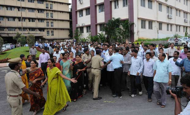Secretariat continues to boil with employees from Telangana