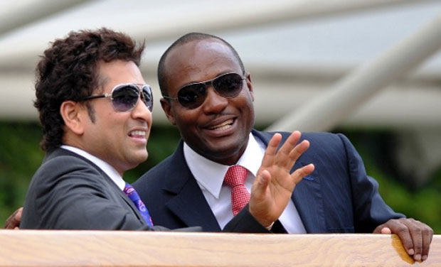 Two of the best batsmen of the modern era, Sachin Tendulkar and Brian Lara last played for the same side in 1994 in Toronto in the Sky Dome. Photo: AFP/ File