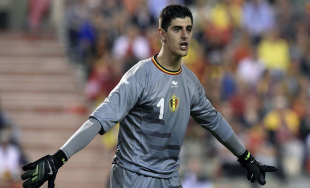 As a measure of his stature, Thibaut Courtois is the undisputed No. 1 goalie for Belgium during the game against Algeria. Photo: AFP