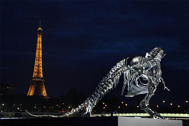 Tyrannosaurus Rex is on Display in Paris (Photo: AP)