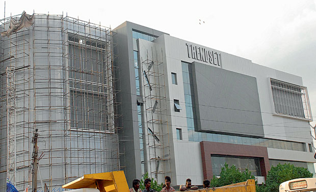 An under-construction multiplex at Benz Circle in Vijayawada. 	(Photo: DC)