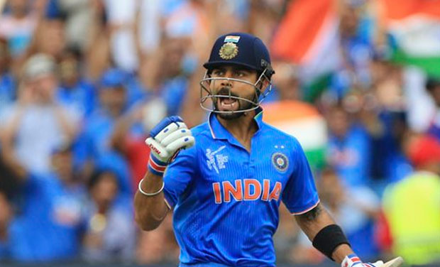 Virat Kohli scored his 22nd hundred to power India to a 76-run win over Pakistan in Adelaide. The victory helped India to better their record (6-0) against arch-rivals in World Cup clashes. (Photo: AP)
