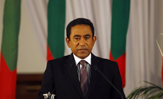 Maldives President Abdulla Yameen (Photo: AP)