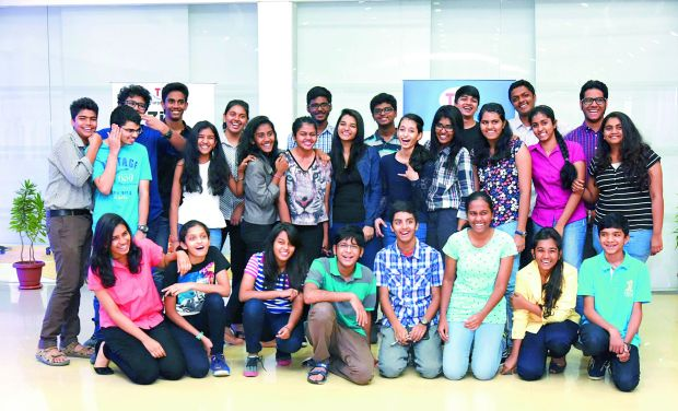 Youngsters who participated at the TiE Young Entrepreneurs programme.