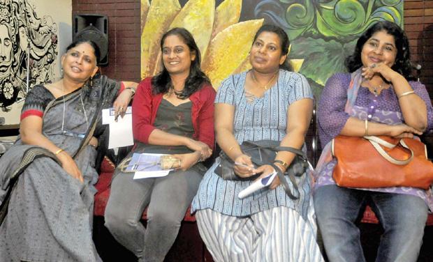 (From left) Bina Paul, Sreebala K. Menon, Oindrilla and Latha Kurien Rajeev