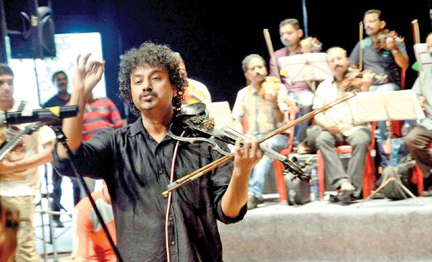 Violinist Manoj George (Photo: Peethambaran Payyeri)