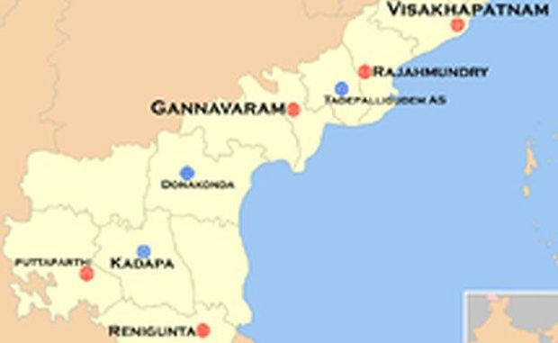 Andhra Pradesh new map. (Photo: DC/File)