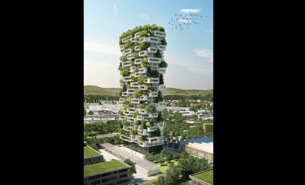 Worlds First Building Covered In Evergreen Trees To Be Build Soon - 384ft tall apartment will be the worlds first building to be covered in evergreen trees
