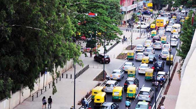 Only 58 per cent of footpaths in Bengaluru city are pedestrian-friendly and only nine per cent of intersections have pedestrian crossings