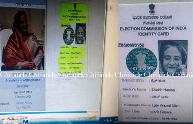 Bengaluru's Bangladesh Figure In Rolls Pm Electoral Us Fugitive