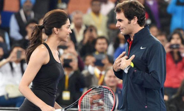 Roger Federer Serves And Volleys Bollywood Style
