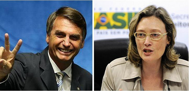 "Brazil opposition congressman Jair Bolsonaro (left) told Maria do Rosario Nunes (right) in Congress he would not rape her ""because she was not worth it"",  triggering outrage and a national debate about rape and sexism(Photo: Facebook/AFP)"