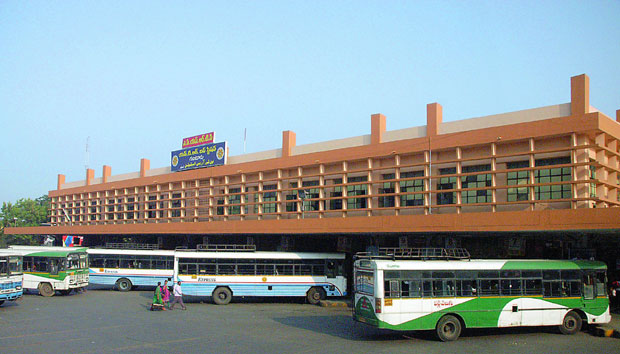 The NTR bus station in Guntur from where buses are plied to various destinations in the state and other states. (Photo: DECCAN CHRONICLE)