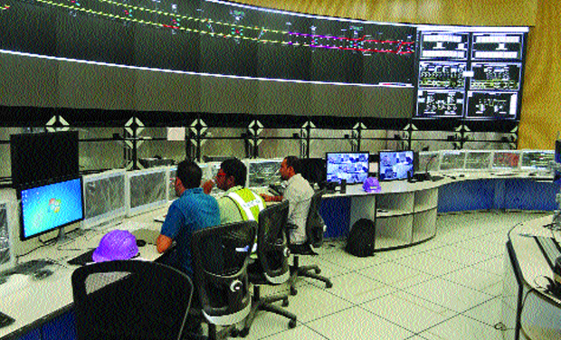 The state-of-art control room of metro rail being tested at Koyambedu (Photo: DC)