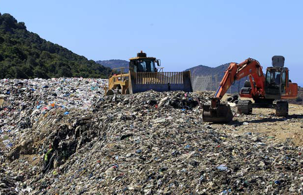The landfill of Vico on the French Mediterranean island of Corsica, France's lush and feisty Mediterranean