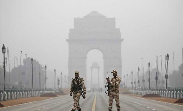 The parade started at 9:50 am from Vijay Chowk and proceeded to the Red Fort ground passing through Rajpath, India Gate, Tilak Marg, Bahadur Shah Zafar Marg, and Netaji Subhash Marg. (Photo: PTI)