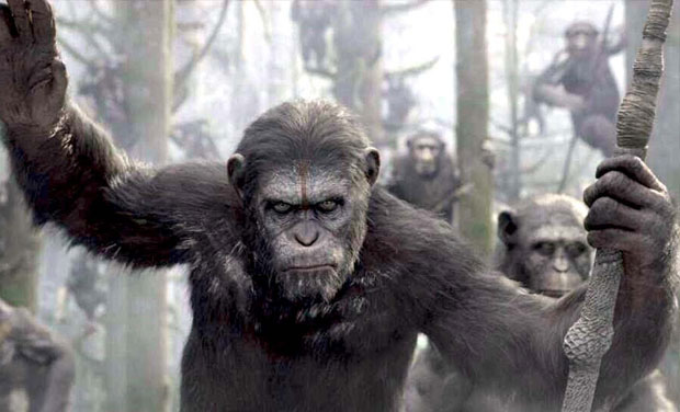 A still from the movie 'Dawn of the Plane of the Apes'