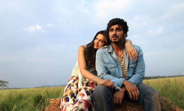 Deepika Padukone and Arjun Kapoor in a still from 'Finding Fanny' .