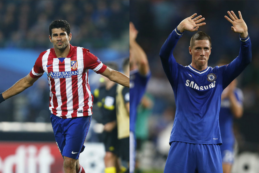 Diego Costa (left) and Fernando Torres    (Photo: DC archives)