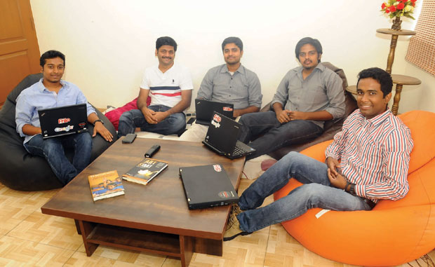 From left to right: Anish Deenadayalan, Raja Jayaraman, Shyam Anandaraman (CEO) Aravind Gopalan, Senthil Kanthswamy (COO). (Photo: DC)
