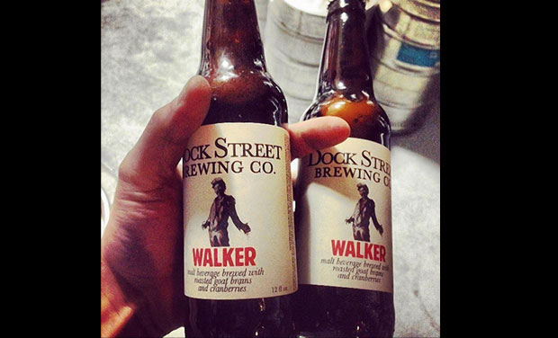 Dock Street Brewing Company in Philadelphia will release an American Pale Stout (7.2% ABV) made with smoked goat brains in March. Photo credit: Facebook