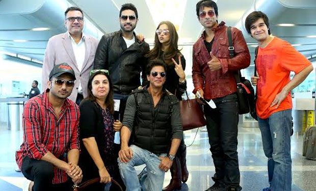 The 'Happy New Year' team at the airport.