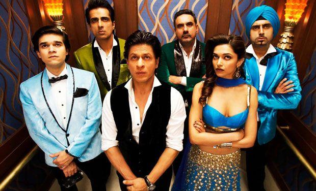 'Happy New Year' stars Deepika Padukone, Shah Rukh Khan, Abhishek Bachchan, Boman Irani, Sonu Sood and Vivaan Shah.