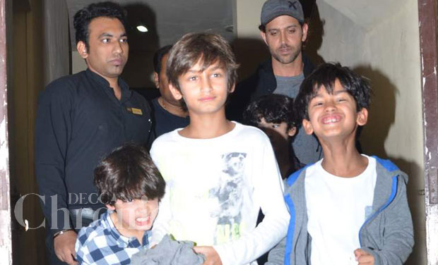 Super Dad Hrithik Roshan Takes His Kids To The Movies