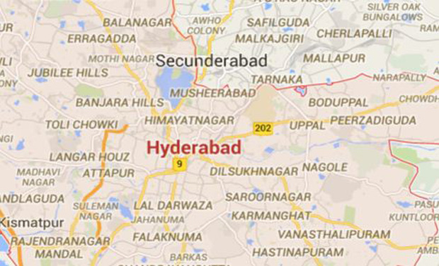 There are four different version of the district map of Hyderabad (Photo: Google map)