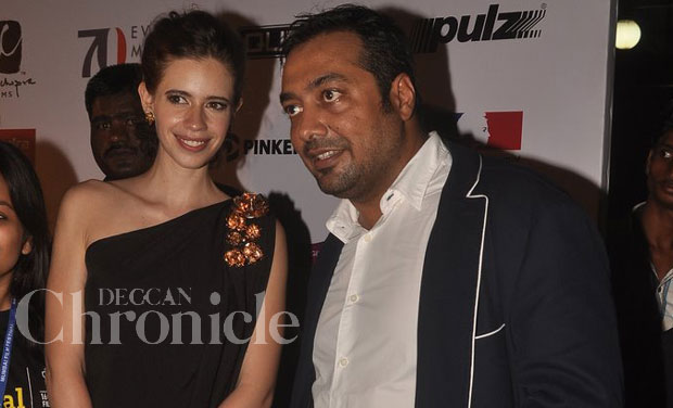Kalki Koechlin and her estranged husband Anurag Kashyap, who seperated a while back, walked the MAMI red carpet together last evening. Photo: Viral Bhayani