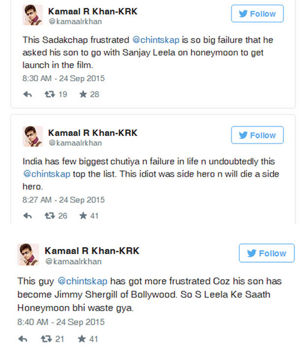 Krk Takes On Rishi Kapoor In Another Twitter Battle But twitter users quickly noted that the social network still banned distribution of the post's article describing a business proposal in china involving hunter biden and a document indicating a 10. krk takes on rishi kapoor in another