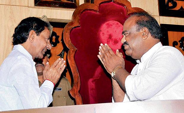 Telangana CM K Chandrasekhar Rao. (Photo: DC)