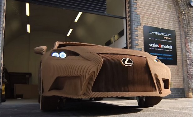 Lexus builds an origami-inspired car made from cardboard