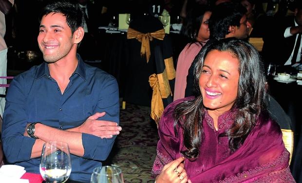 All smiles: Mahesh Babu with his wife Namrata Shirodkar