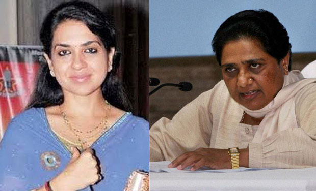 BJP spokesperson Shaina NC and BSP chief Mayawati (Photo: DC/PTI)