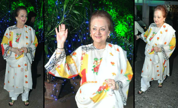 Rani mukherjee helen dharmendra join to celebrate dilip for Saira banu granddaughter