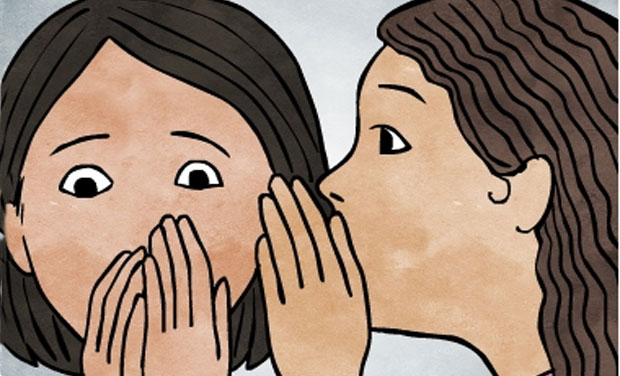 An Illustration depicting girls discussing myths about periods by Menstrupedia.com. Photo: Menstrupedia.com