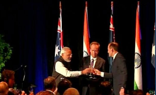PM Modi raises a toast at 'historic' Melbourne Cricket
