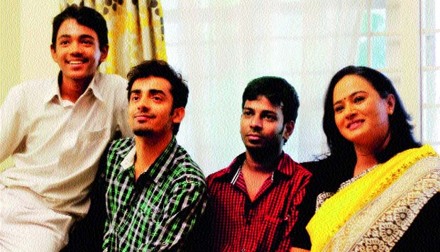 (Left to right): Sharath, Nakshatra, Lokesh and Anupama the crew of My Son Is Gay