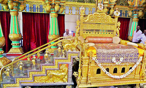 The Golden Throne Of Mysore Palace