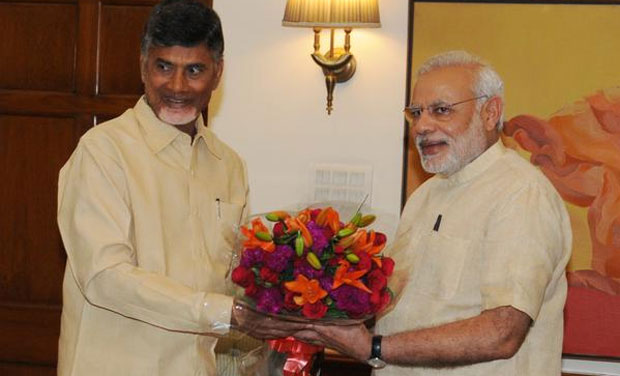 Chief Minister of Andhra Pradesh meeting Prime Minister Narendra Modi in New Delhi. (Photo: PMO Twitter)