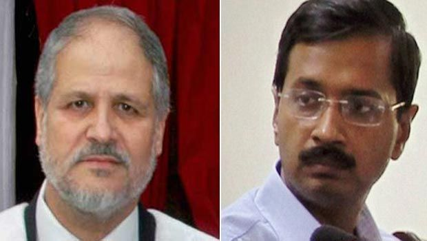 Lt Governor Najeeb Jung and Delhi Chief Minister Arvind Kejriwal (Photo: PTI/DC)
