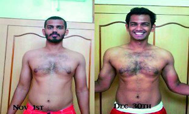 Nishanth consumed chicken biryani 50 times over a period of 60 days and ended up losing three kilos and also put up considerable amount of muscle.