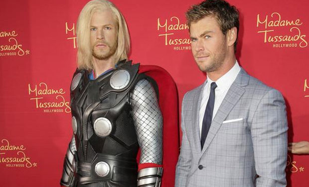 Madame Tussauds unveiled Chris Hemsworth's wax statue as the Asgardian God, Thor. The statue has got a lot of flack from fans ridiculing the artists for making a statue that looks NOTHING like the sexy star. Even Chris had a little troubling