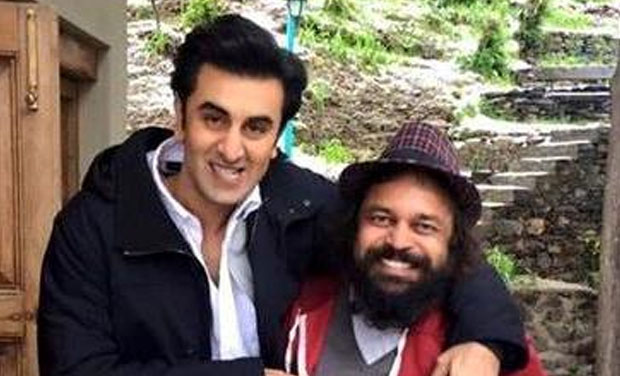 Ranbir Kapoor in a playful mood on the sets of 'Tamasha' in Tokyo. Photo: Twitter