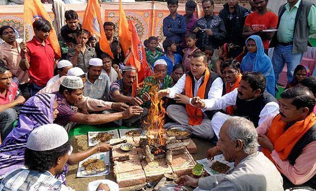 A religious conversion that happened earlier in Agra. (Photo: PTI/File)