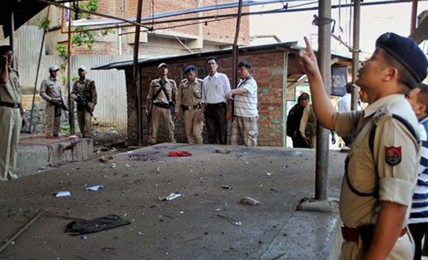 Image result for Bomb explodes in Imphal mall