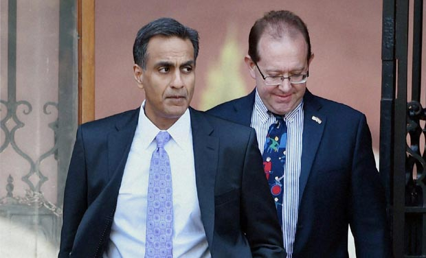 US Ambassador to India Richard Verma (left) termed the Aero India show as 'the best of US aviation and defence technology'. (Photo: PTI/file)