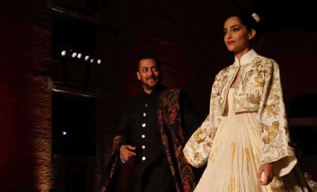 For one night, Salman played prince and Sonam played the fairytale Indian princess.