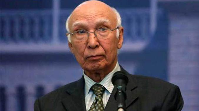 Pakistan's Foreign Affairs Adviser Sartaj Aziz (Photo: PTI)